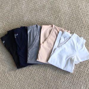 J Crew Mercantile cotton T Shirts M Set of 5 Worn